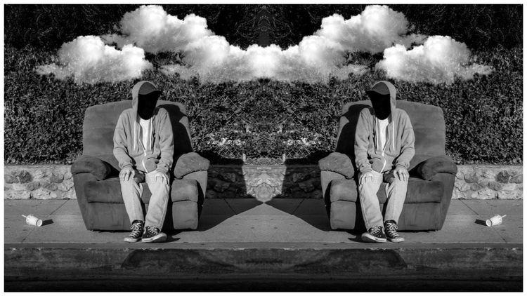 Double Vision - blackandwhite, streetphotography - amiela | ello