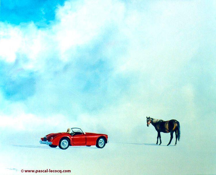 CROSS ROAD - oil canvas Pascal  - bluepainter | ello