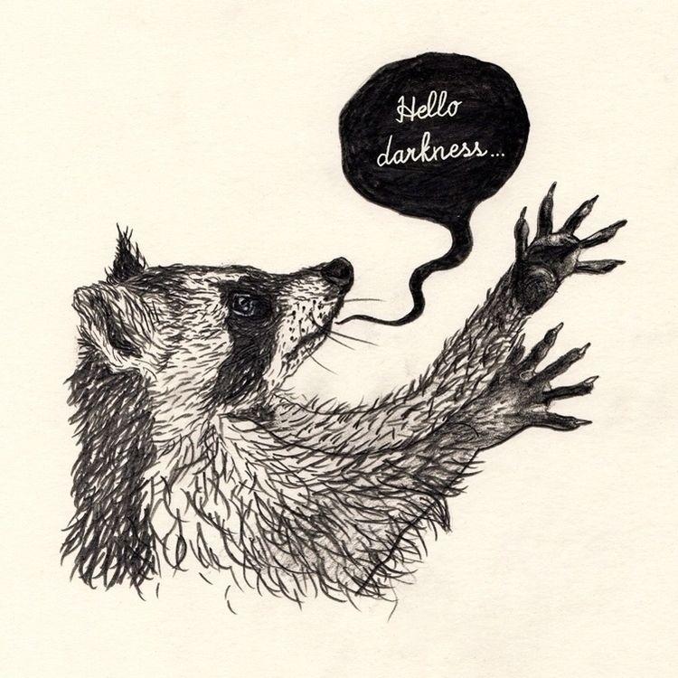 Raccoon - illustration, art, drawing - janna_klaevers | ello
