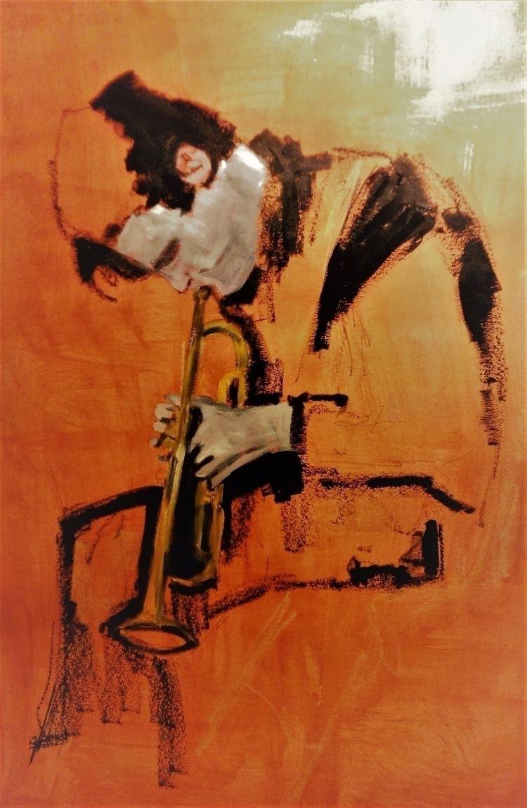   Chet Baker ///// oil paper -  - guiart   ello