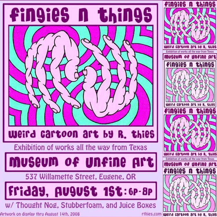 Flyer art show ten years - rthies - rthies | ello
