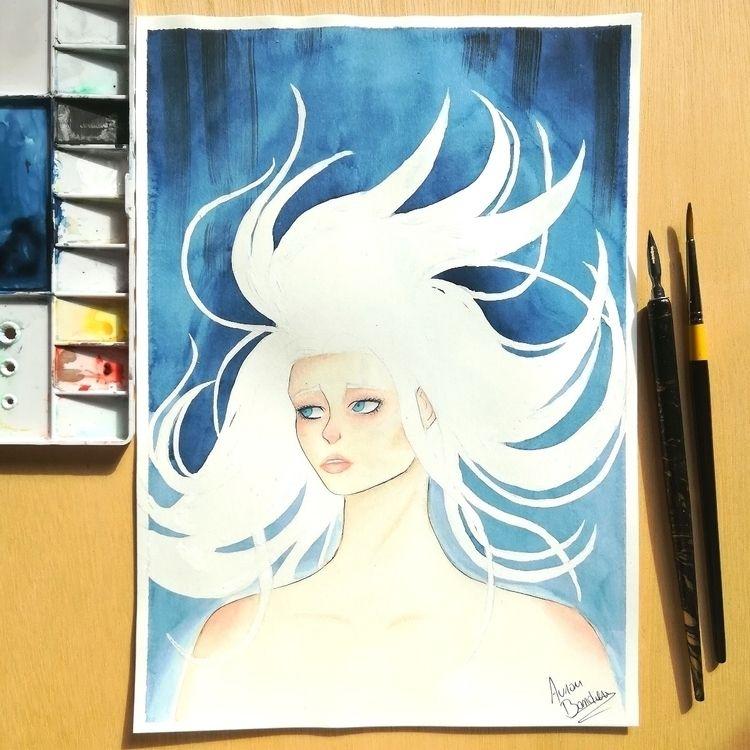 Watercolor painting - art, artist - aurore_bandiera | ello