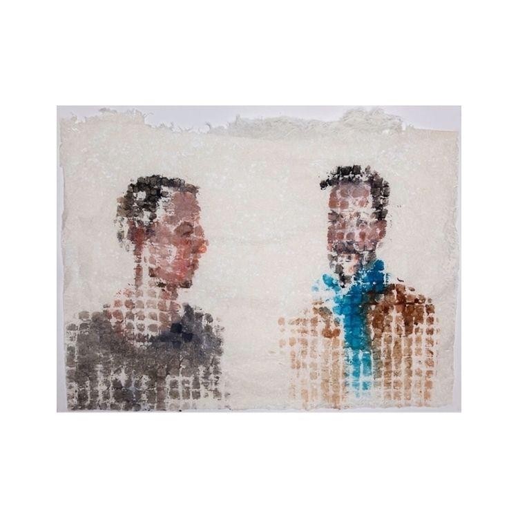 experiment pattern - squares, portrait - yuliavirko | ello