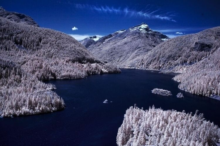 Diablo lake, Washington - infrared - blackhanded | ello