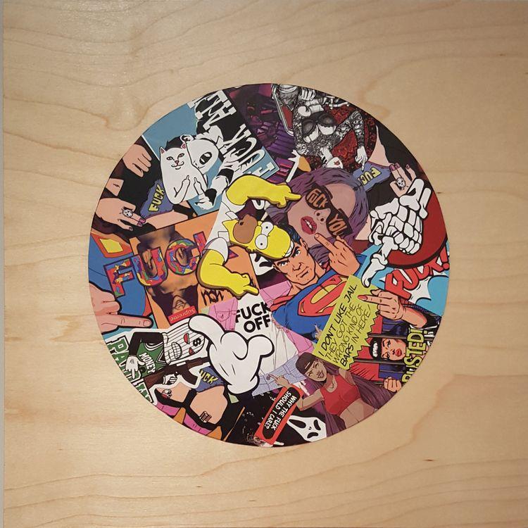 Care? - 12 2 vinyl stickers woo - markbueno | ello