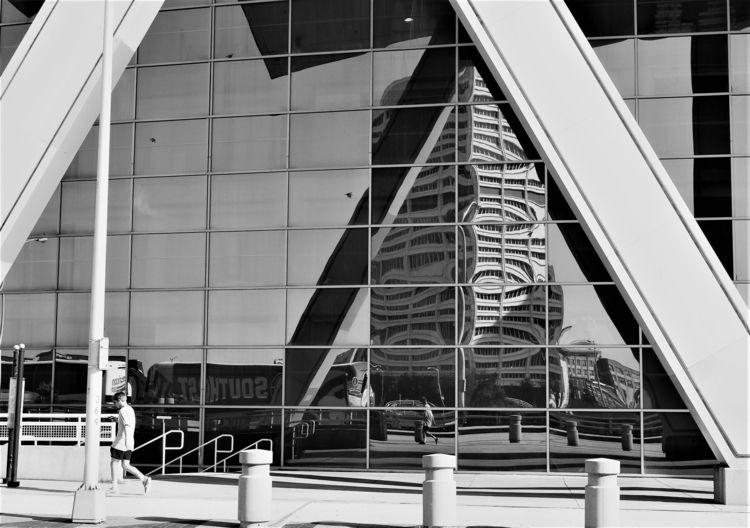 Reflection - architecture, blackandwhite - drewsview74   ello