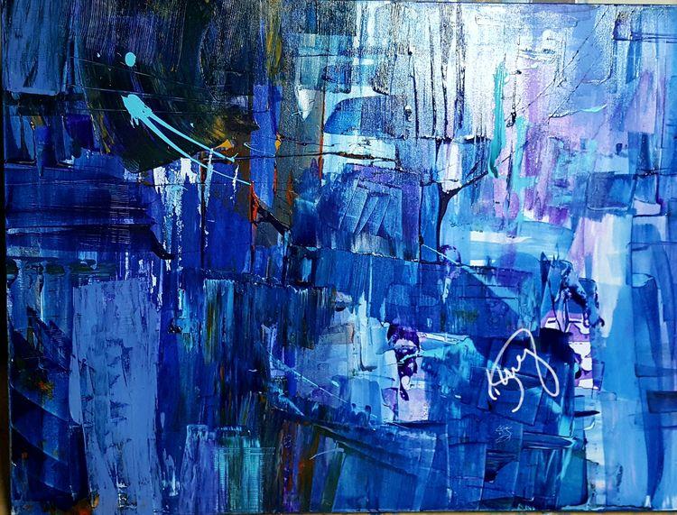 Art Computer Blue, 2016 Acrylic - dstring71 | ello