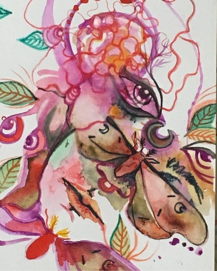 magic - moth, art, illustration - dandyblisscandy | ello
