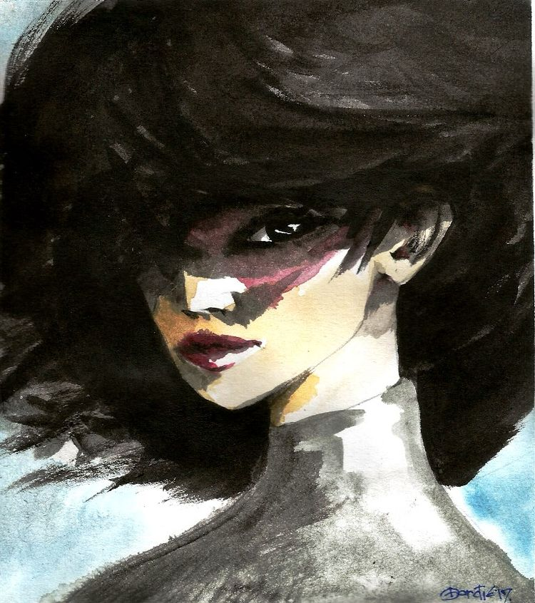 watercolor, portrait - ljubicakralj | ello
