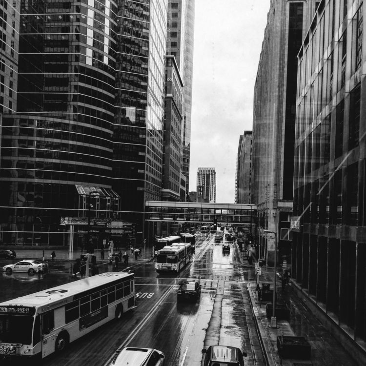 Wet Busy - citylife, mpls, blacknwhite - leif_kurth | ello