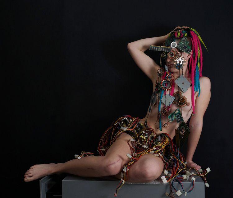 Data goddess cart 04519 dress c - frango_artist | ello