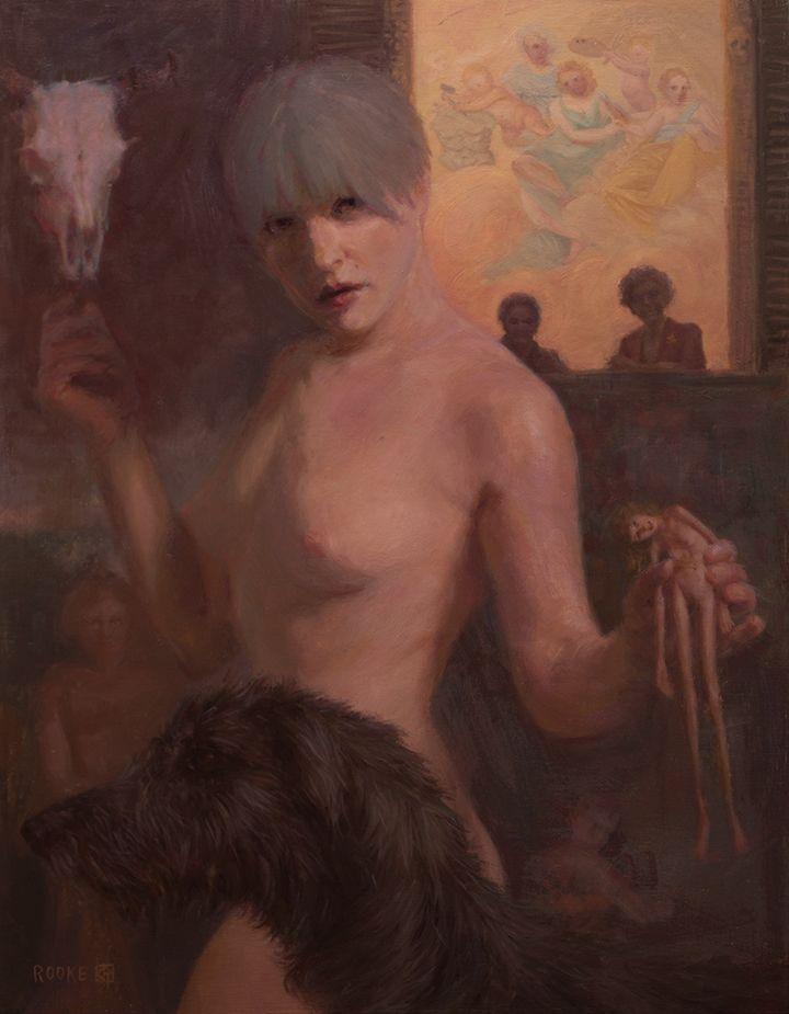 Venus Devouring Voyeur, oils wo - caitlynrooke | ello