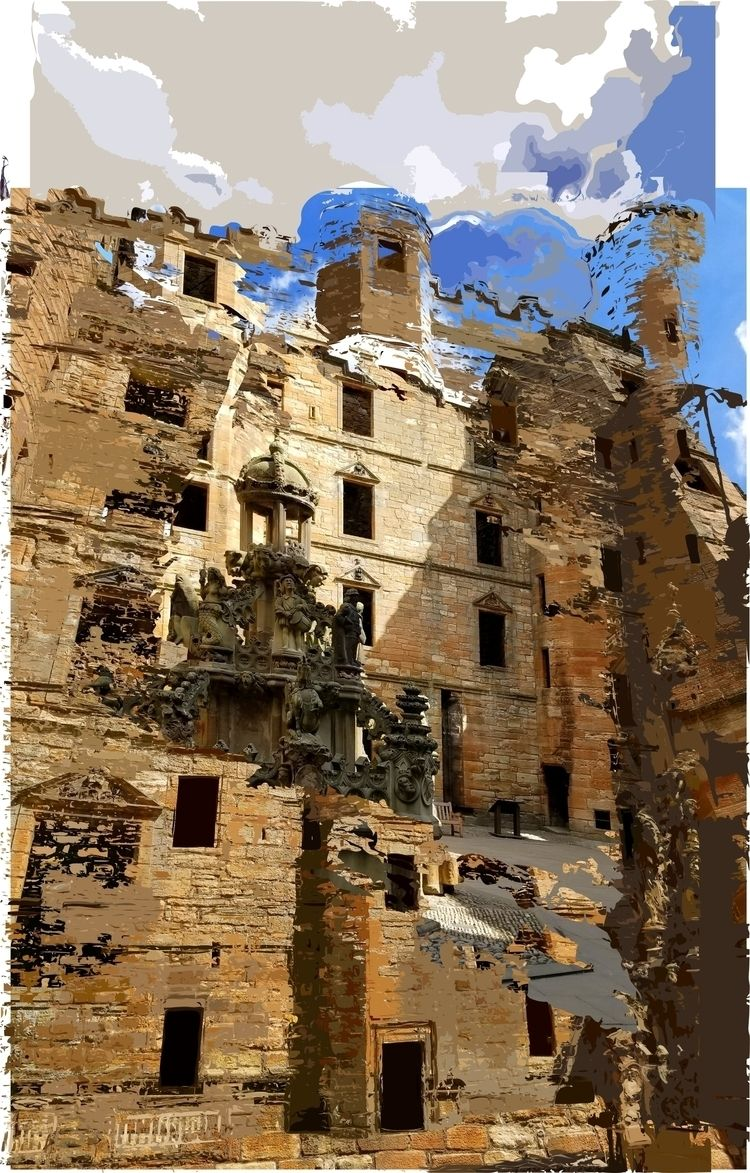 Linlithgow Palace - art, contemporaryart - paulsmedberg | ello
