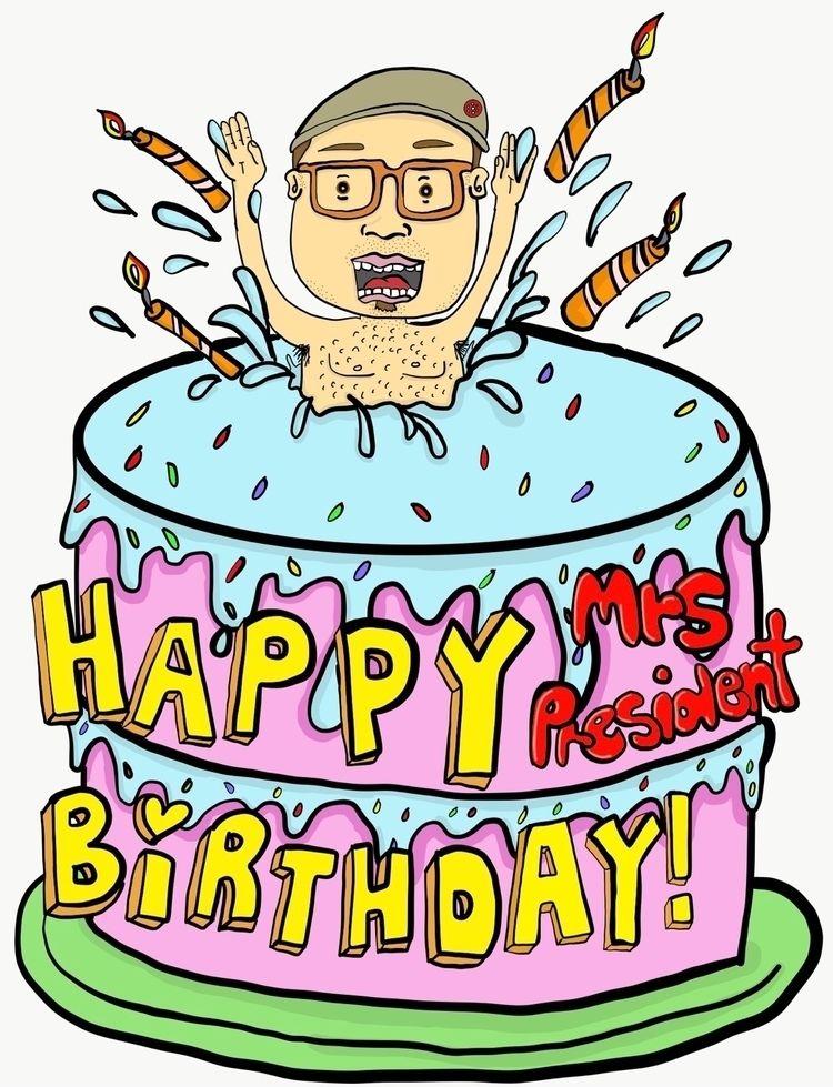 lowbrowart, cartoon, birthdaycard - magiccottageart   ello