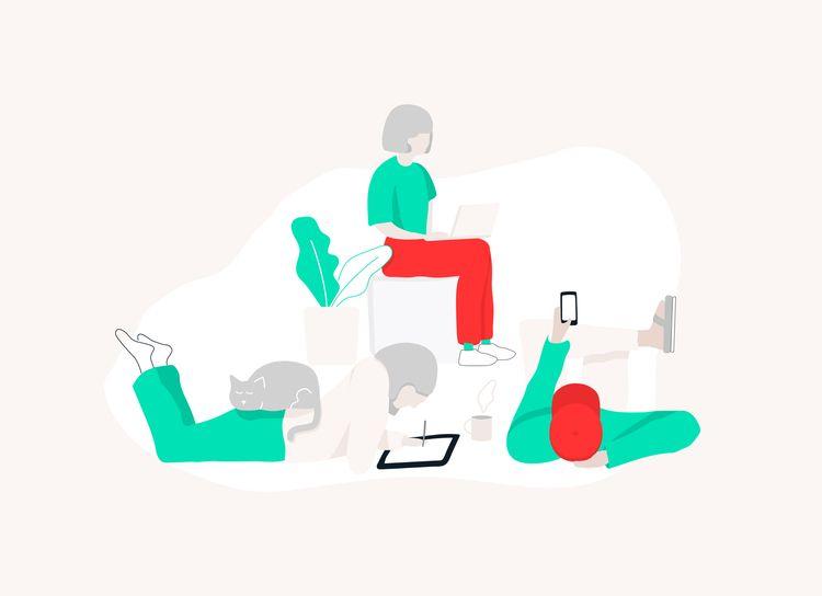 'Slack office' illustration Co  - emmaphilip | ello