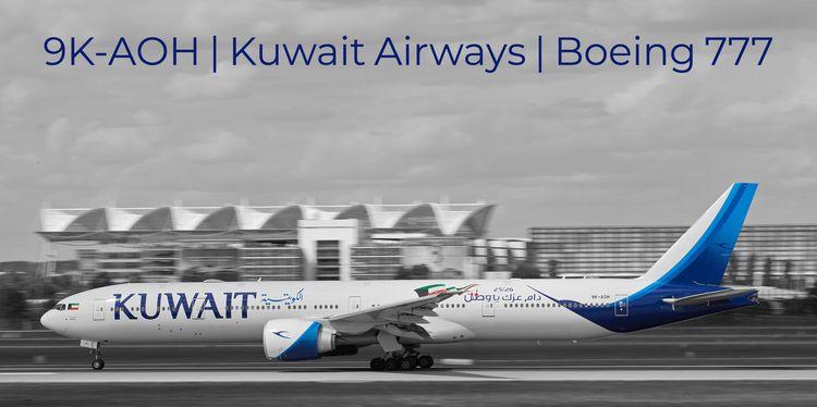 9K-AOH,, KuwaitAirways,, Boeing, - koaeifoun | ello