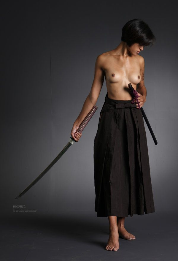 brunette, tits, katana, sword - ukimalefu | ello