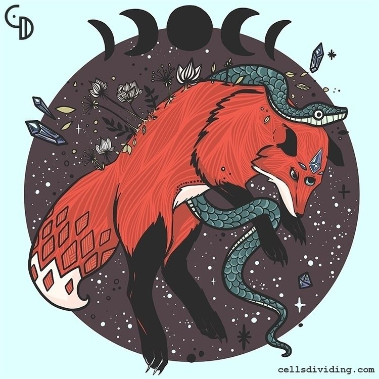 newest doodle. fox. jumping. sn - cellsdividing | ello