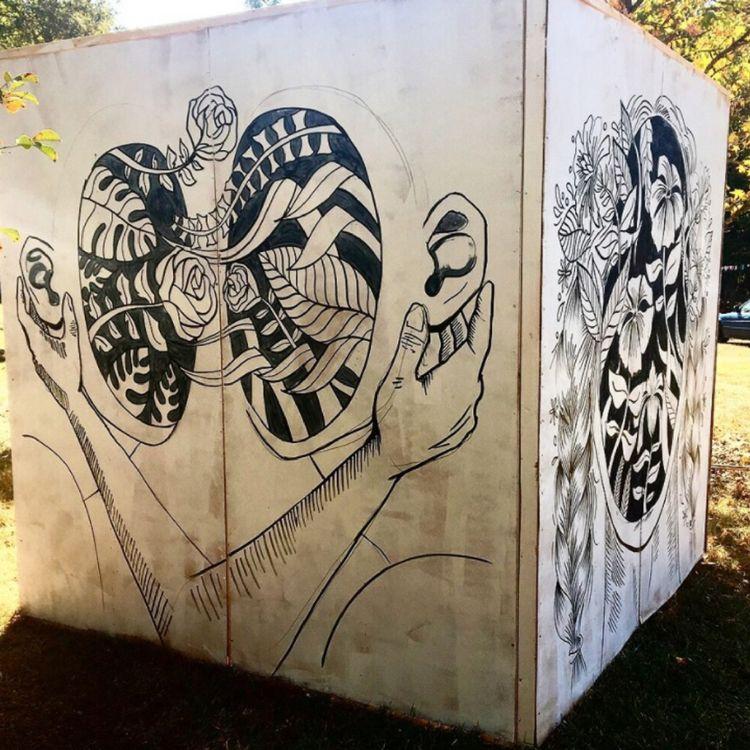 finalizing plans mural cube loc - blflood | ello
