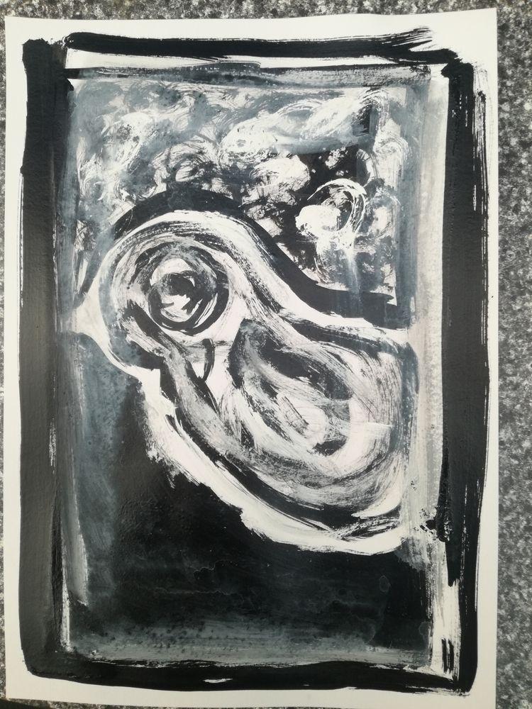 Bird Indian Ink watercolour pap - joergenjohansen60 | ello