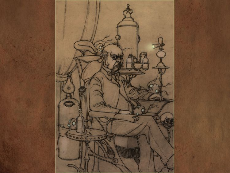 Drawing stage- Doc Willoughby H - spoonwalker | ello