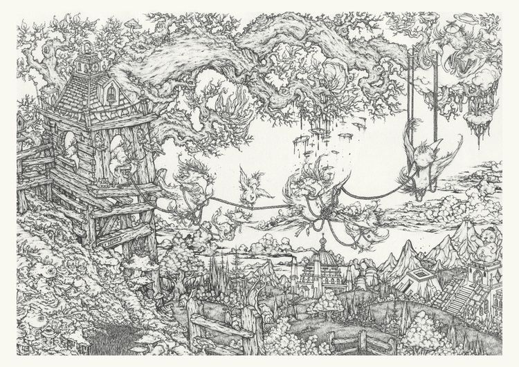 blurred house full scan drawing - glenk79 | ello