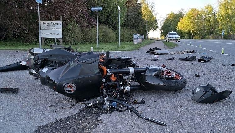 ulykke, motorcykel, haslev, accident - folkogsteder | ello