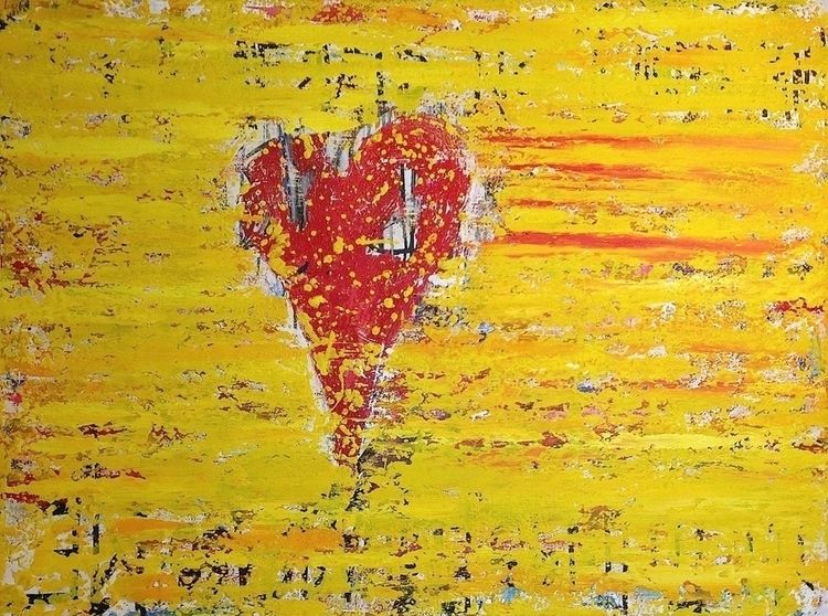 "heart 48""x36"" acrylic canvas 20 - nuisms 
