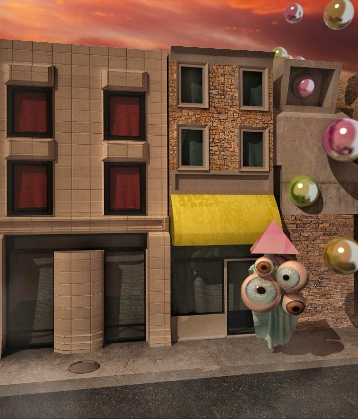 3d, eye, street, render, metal - daniuxhg | ello