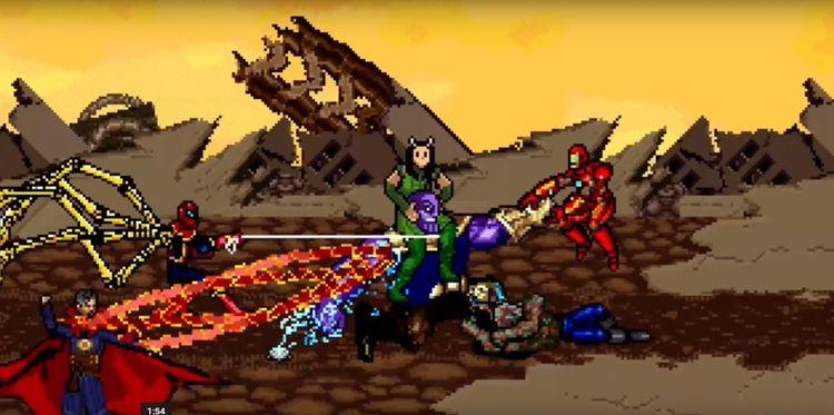 Guerra Infinita em 16-Bit. Os c - hqscomcafe | ello