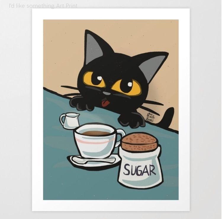 Art Print BATKEI - society6, cat - batkeiart | ello