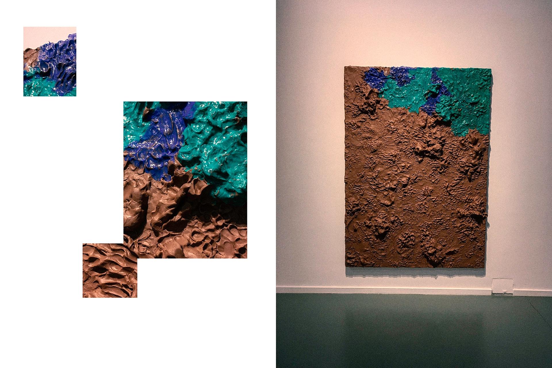 Obraz przedstawia zdjęcie obrazu i fragmenty obrazu.