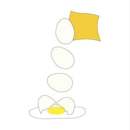 Food Fight - Cheese Egg. Art di - someartworker | ello