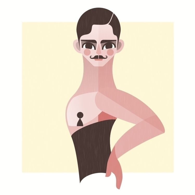 Burlesque illustration - flatdesign - castanoart | ello