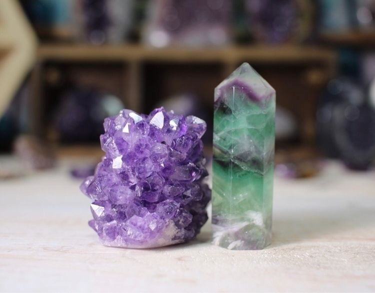 Amethyst Fluorite ser - Metaphysical - theeancients | ello