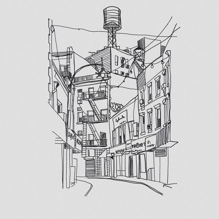 York // China Town  - architectureporn - heiniistgegenalles | ello
