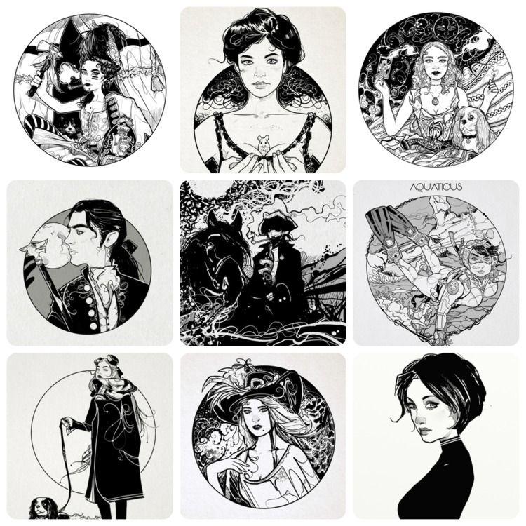 illustration, blackandwhite, portfolio - shugmonkey | ello