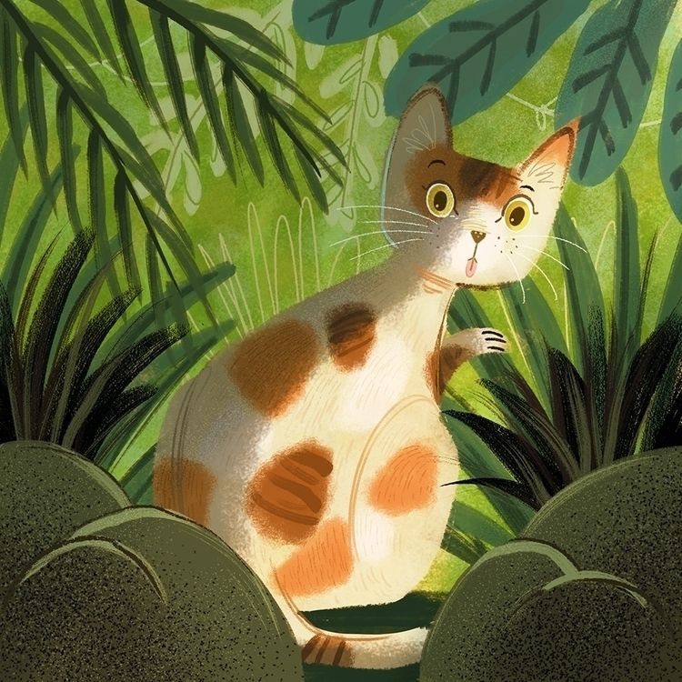 Forest cat - illustration, kidlitart - charlenechua | ello