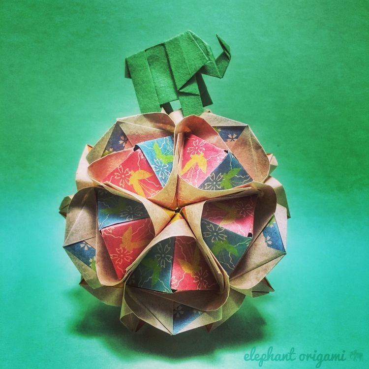 folded rendition clover kusudam - elephantorigami | ello
