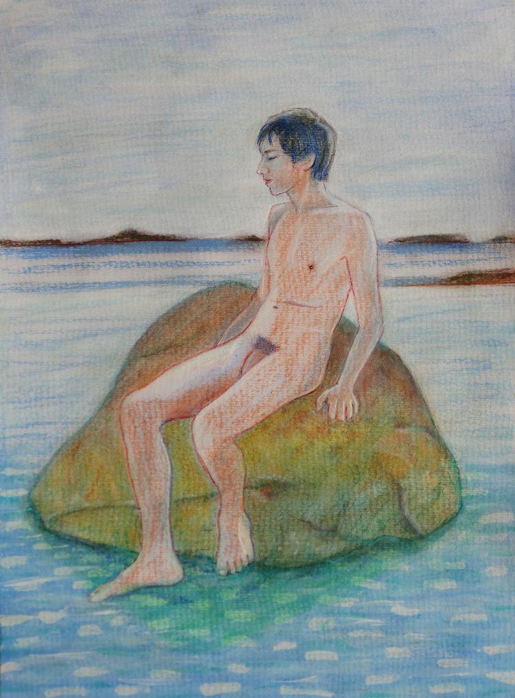 David Anton Ador beach Pastel a - loic-le-phoque-fringant | ello