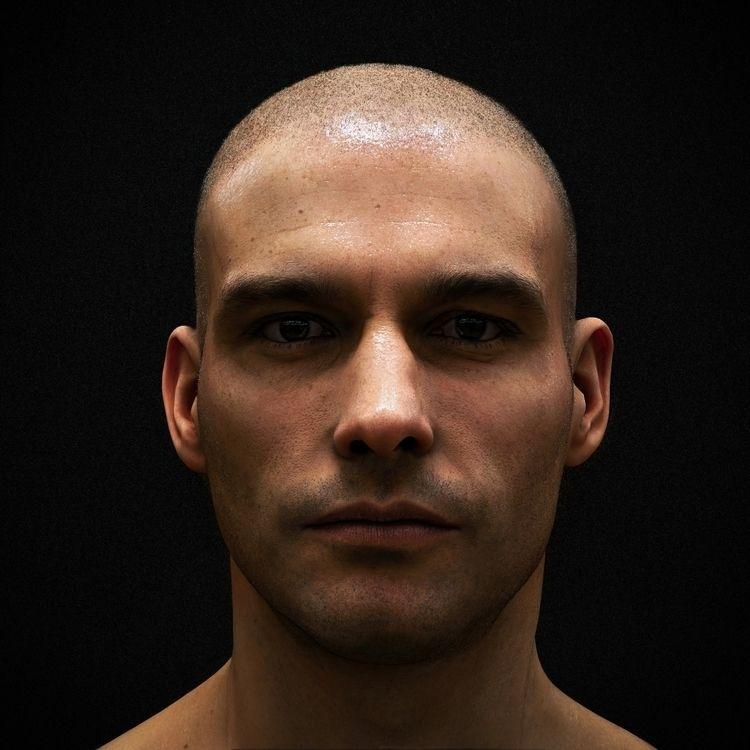 Practice render - skin, hair, f - z3rogravity | ello