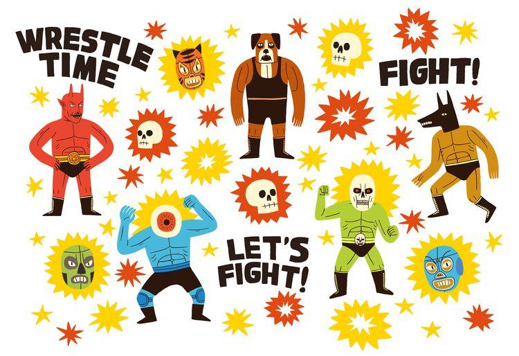 Wrestlers - jackteagle | ello