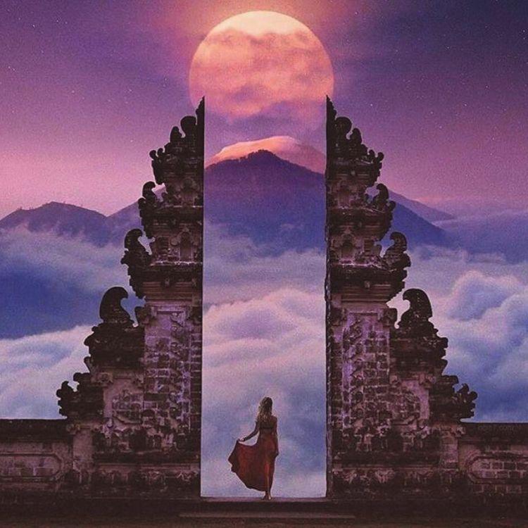 ॐ - meditation, moon, bali - meditation | ello