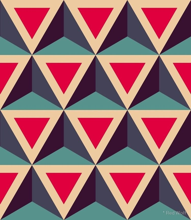 Geometric Pattern: Triangle: Bl - red_wolf | ello