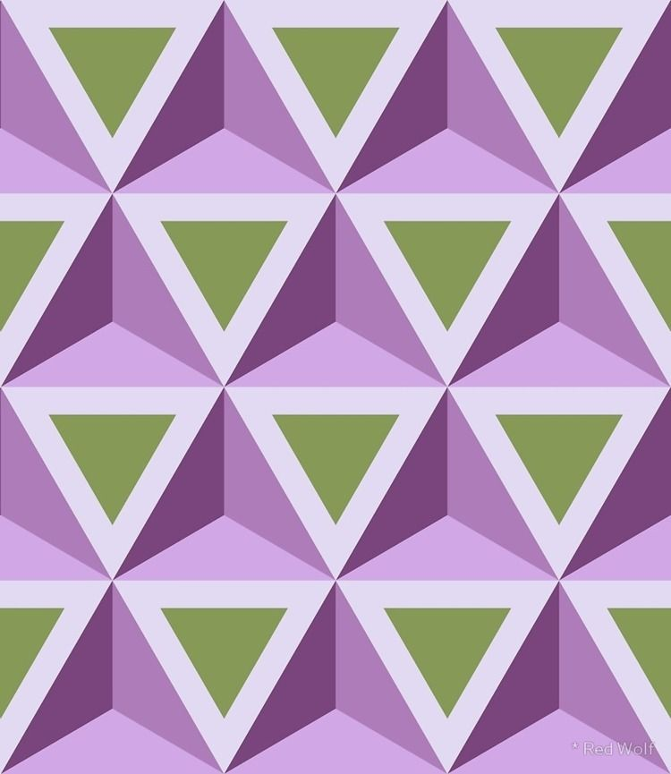 Geometric Pattern: Triangle: Gr - red_wolf | ello