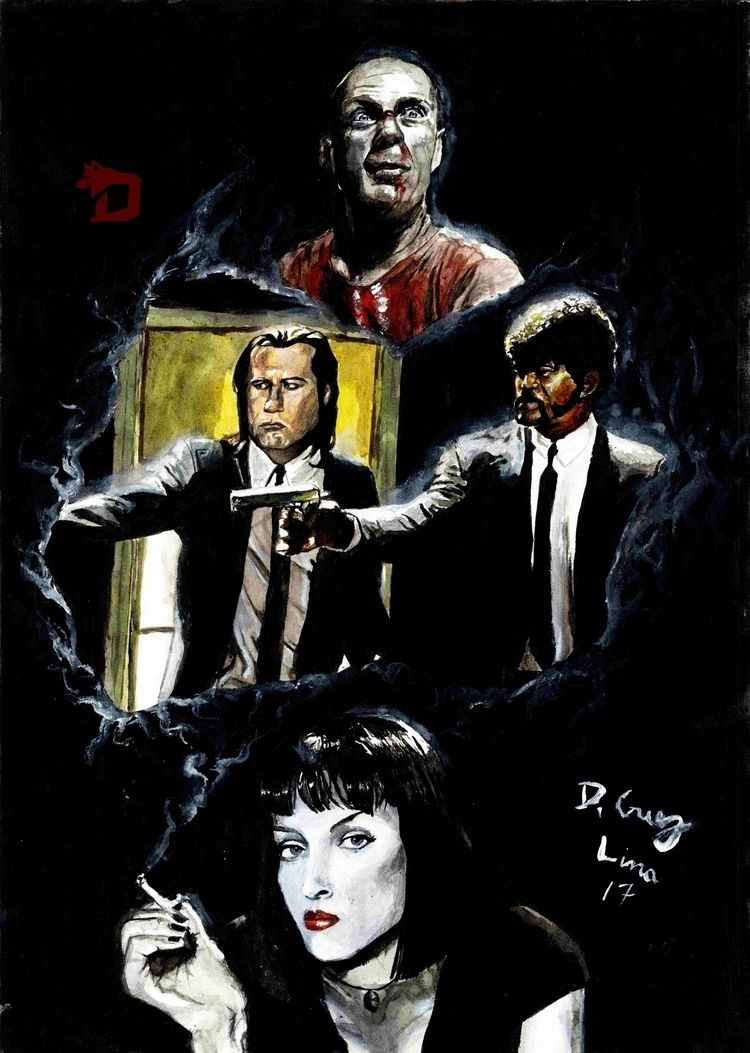 Pulp Fiction ^^.. Art gouache.  - dcruzlima | ello