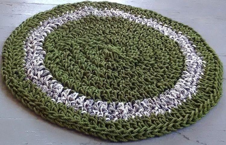 SOLD...Rope Rug Handmade Croche - maryherrigfiberarts | ello