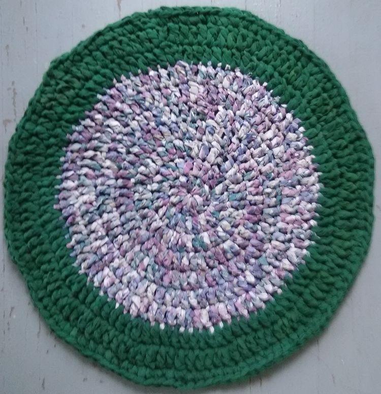 Handmade Crochet Rag Rug 34 Rec - maryherrigfiberarts | ello