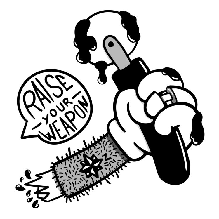 Raise weapon pirates!  - sticker - _pizzapirate | ello