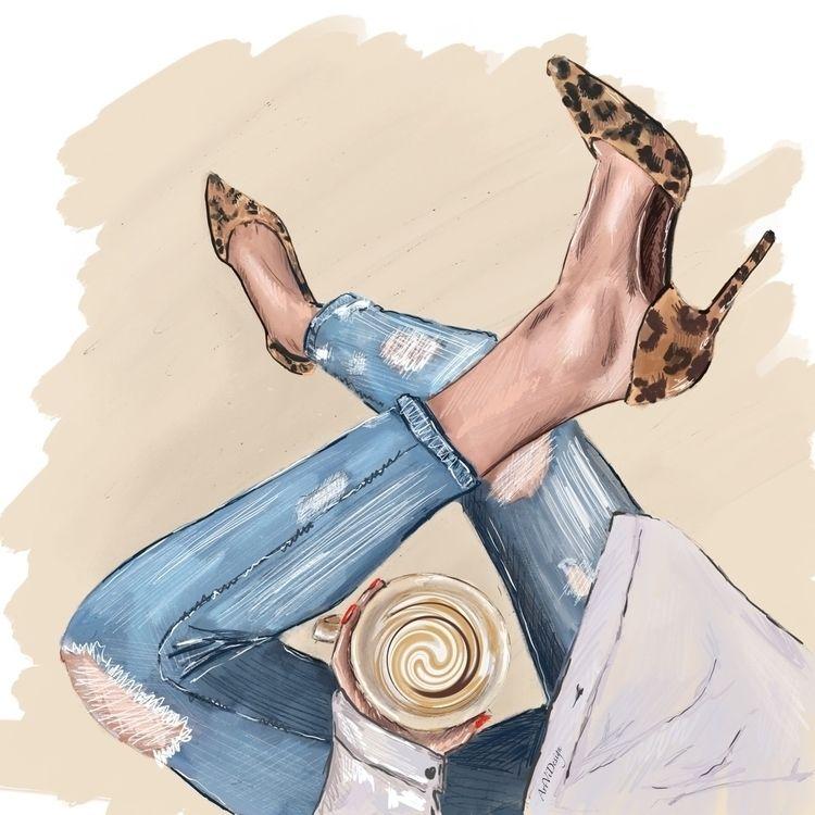 coffeetime, fashionillustration - victoriaart | ello